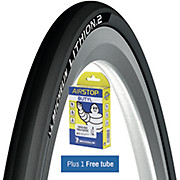 Michelin Lithion 2 Road Tyre Grey 23c + FREE Tube
